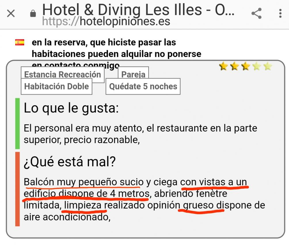 Hotel les illes estartit medes