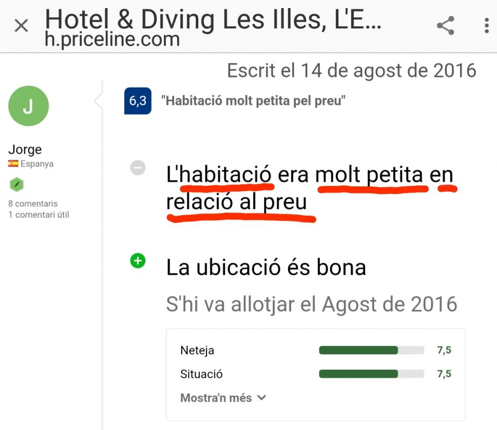 Hotel les illes estartit precios