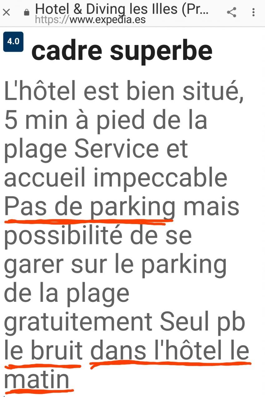 Hotel no parking les illes estartit